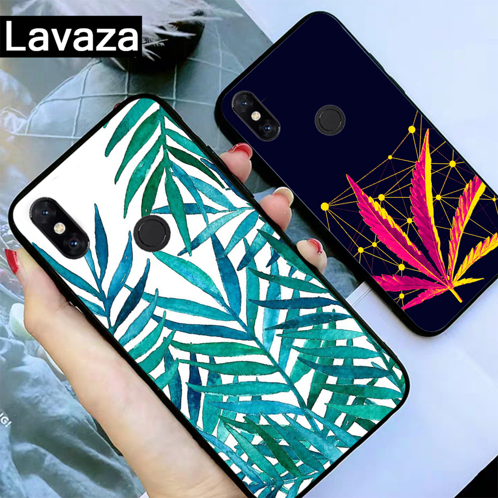 Lavaza Tropical weed hemp leaves Silicone Case for Xiaomi MI 6 8 9 SE Max 3 Lite F1 A1 A2 5X 6X Mix 2S A3 Pro 9T CC9 CC9E in Fitted Cases from Cellphones Telecommunications