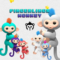 6 Color Fingerlings Monkey Interactive Baby Pet Toys For Children Smart Fingers Llings Smart Induction Toys
