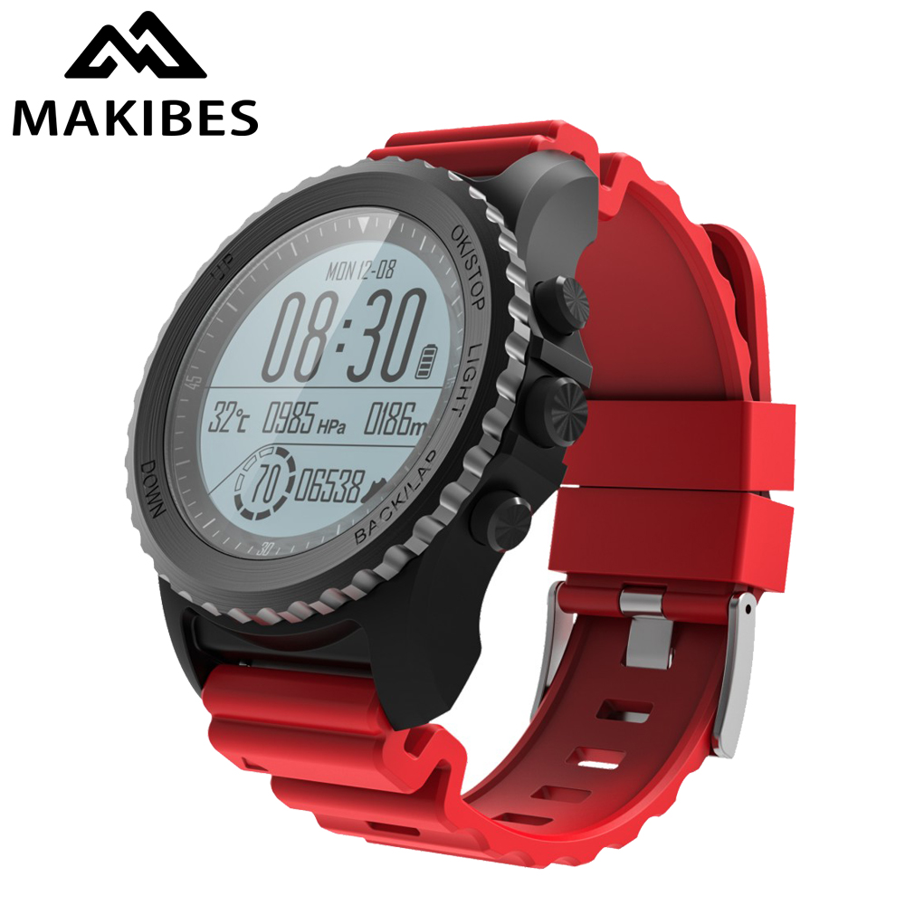 Makibes G07 GPS Sport WristWatch Bluetooth SmartWatches IP68 Waterproof Dynamic Heart Rate monitor Multi-sport Men's GPS tracker