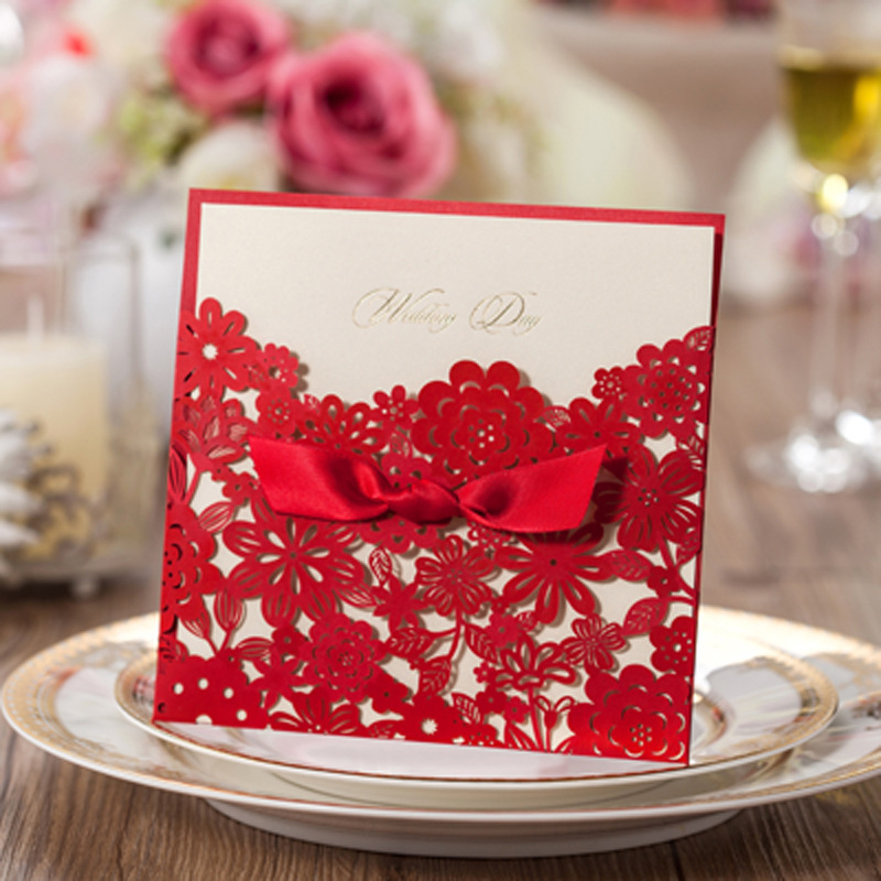 50Pcs/set Romantic Wedding Party Event Invitation Card Birthday ...
