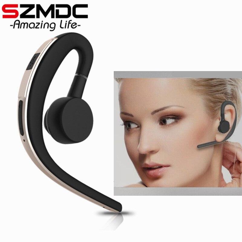 SZMDC manos libres negocios Bluetooth auriculares con micrófono, Control de voz auricular inalámbrico Bluetooth para coche ruido cancelación de PK V9