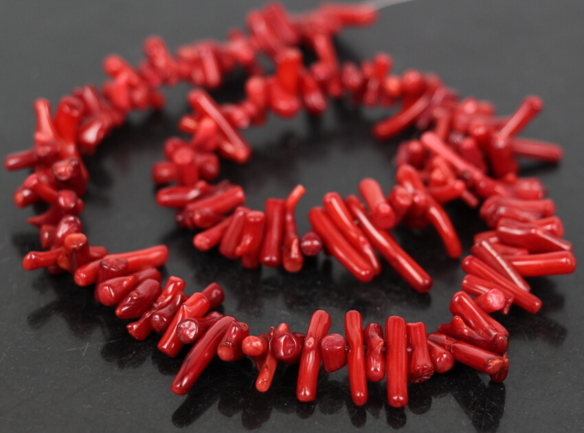 5strand/Lot Natural Red Bamboo Coral Branch seedlings Top Drilled Beads,Coral Chip Necklace Beads Jewelry Supplies,5-16mm
