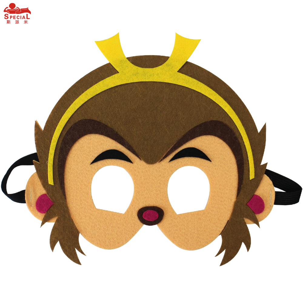 SPECIAL Thick Felt Animal Mask For Kids Monkey Costume Character - Kostumer - Foto 5