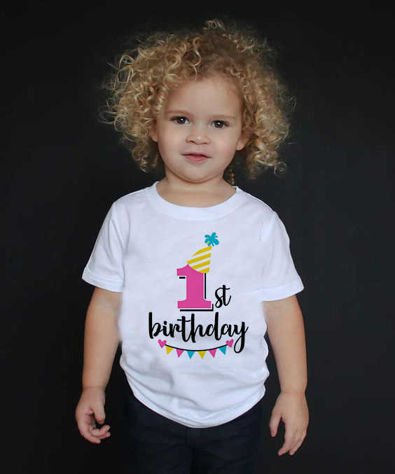 Kind Baby Jongens Meisjes Gelukkige Verjaardag Nummer 1-9 Print T-shirt Zomer Witte T-shirt Kids Verjaardagscadeau Nummer print Kleding