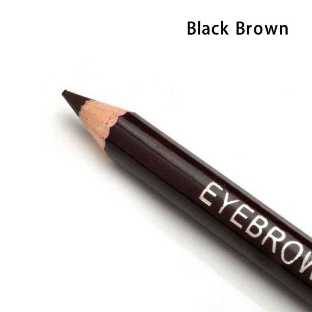 1 Pcs Leopard Women Eyebrow Pencil Waterproof Black Eye Brown Pencil With Brush Make Up Eyeliner Eye Liner Makeup Tools 2