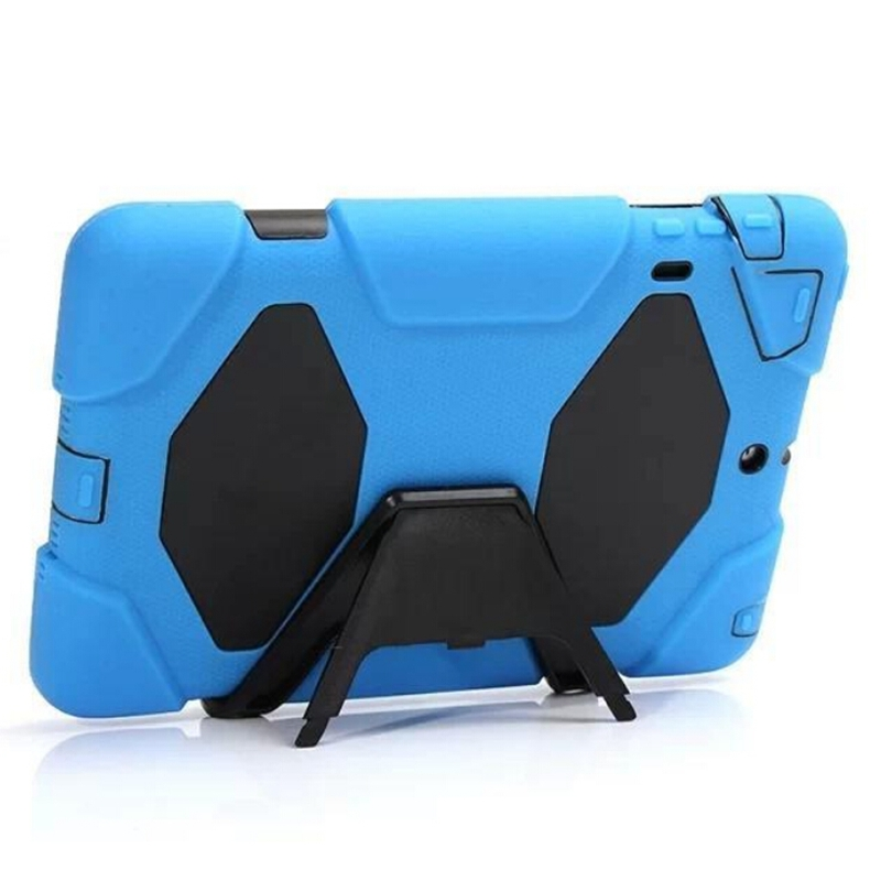 3 in 1 Hybrid Plastic+Silicon Heavy Duty Shockproof Dual Layer Rugged Military Armor Back Cover Case For ipad mini1/2/3 Coque