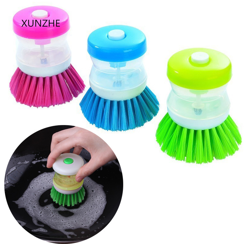 XUNZHE Creative handheld automatic liquid pot brush plate washing Cleaning Brush Kitchen cleaning products image
