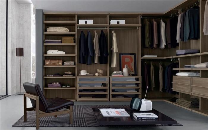 L shape walk in closet wardrobe designin Wardrobes from Furniture