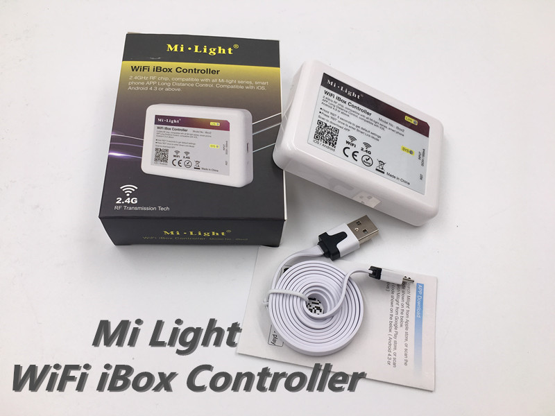 DC12v 2.4G RGBW mi lumière sans fil wifi RF à distance + 4 pièces * 3 voies canal 4 Zones 18A contrôleur + 1 pièces * Wifi LED de contrôle 5 V - 6