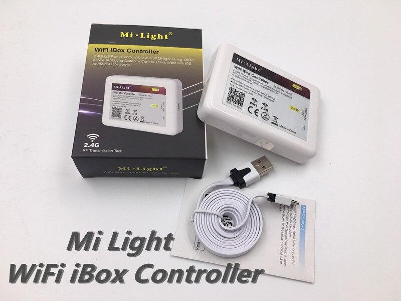 Dc12v 2.4g rgbw mi luz sem fio rf wifi controle remoto + 4 pcs * Canal 3 Way 4 Zonas 18A Controlador + 1 pcs * Wi fi Levou Controlador 5 V - 6