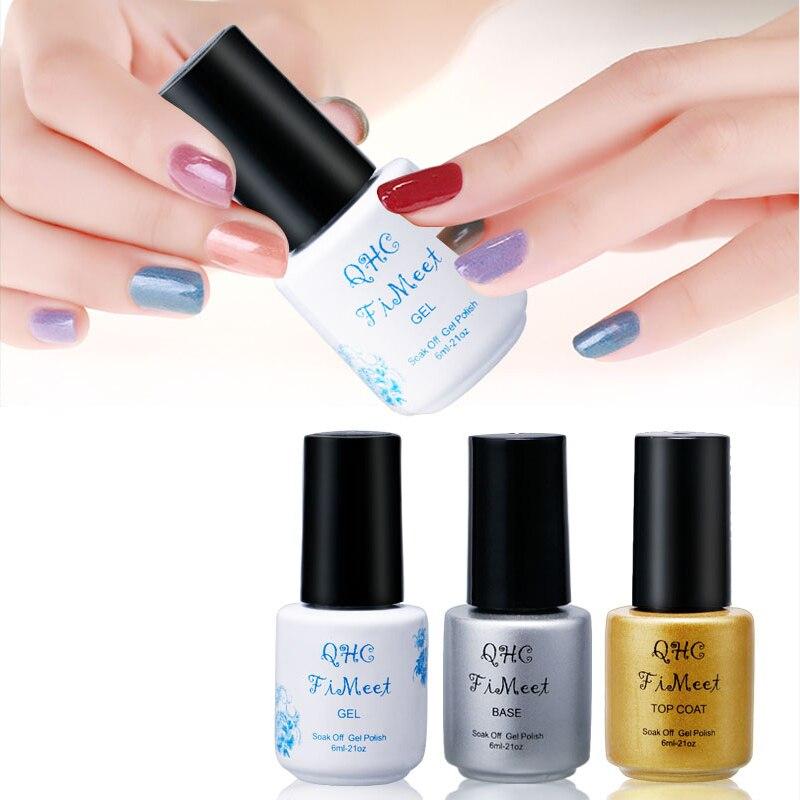 qhc fimeet gel nail polish gorgeous color nail gel polish vernis semi permanent top coat base - Vernis Sinful Colors