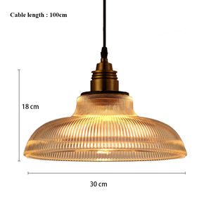 Image 5 - Vintage Pendant Lights Glass luminaire Loft Retro Hanglamp Creative Industrial deco maison Lighting Fixtures E27 Restaurants Bar