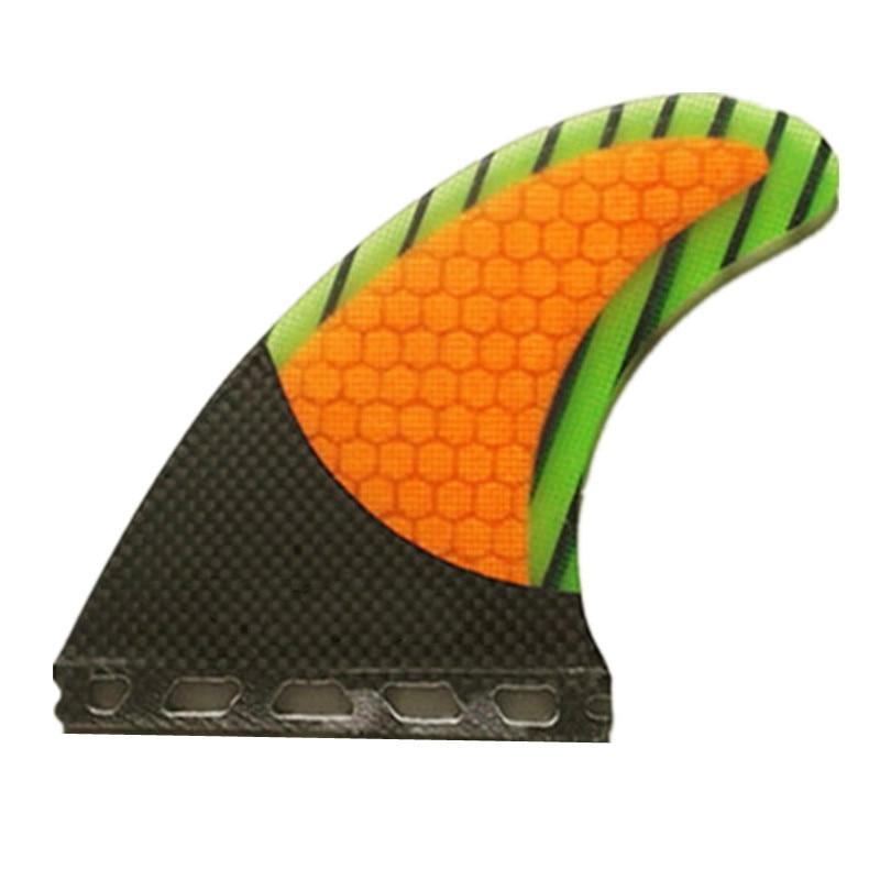 Nouveau Design Noir Papillon G5 De Tri Fin et Nid D'abeille En Fiber De Verre Ailettes Planche De Surf Surf