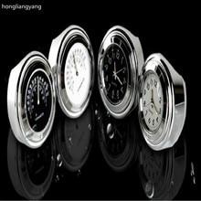 luminous waterproof motorcycle handlebar clock temperature motorbike fit for 22-25mm