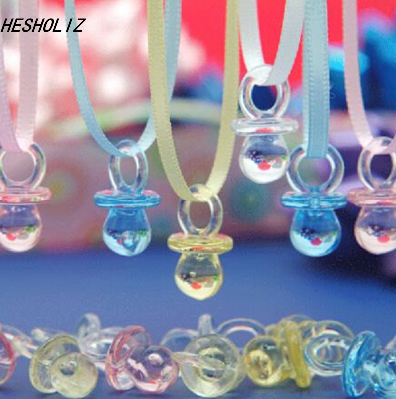 Mini Pacifier Necklace Baby Shower Game Set of 50 Party Decoration  Baptism