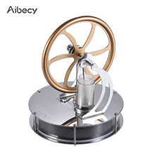 New Arrival Stainless Steel Low Temperature Mini Air Stirling Engine Motor Model Heat Steam Education Toy Science Experiment Kit(China)
