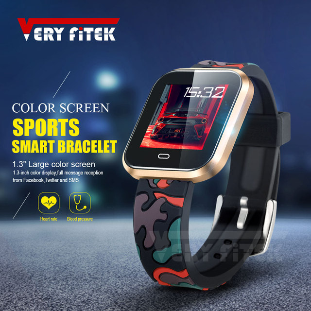 VERYFiTEK Leopard Sport Smart Watch Blood Pressure Heart Rate Monitor Fitness Tracker Men Women Smartwatch for IOS Android