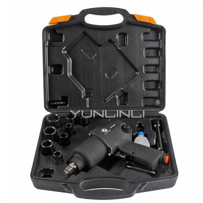 Pneumatic Wrench Set Strong Small Wind Gun Tire Removal Torque Wrench Tool Pneumatic Tools GY-2811Pneumatic Wrench Set Strong Small Wind Gun Tire Removal Torque Wrench Tool Pneumatic Tools GY-2811