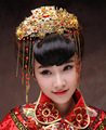 Chinese Traditional Vintage Jewelry Classical Bridal Headdress Flowers Coronet Hair Accessories Tassels Combs Frontlet