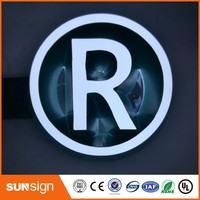 New products !!!Top quality custom made waterproof acrylic led full light letter