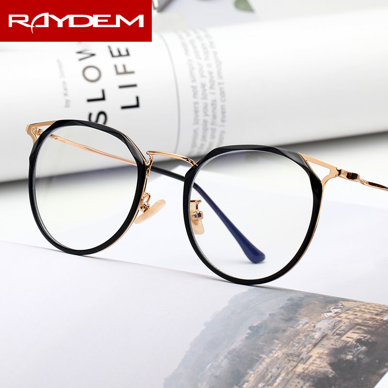 2018 New Finished Optical Glasses Women blue light blocking glasses reading Computer Alloy Anti Blue ray Men Myopia eyeglasses