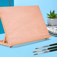 A3 Wooden Drawing Table Portable Sketch Bookshelf Wood Stand Desktop Watercolor Oil Easel for painting art supplies for artist