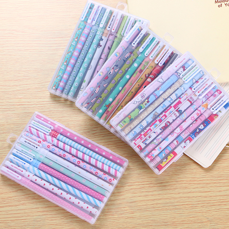 40pcs/lot Gel Pen 10 Colors Kawaii Cute Gel Pen Wholesale Colored Gel Pens School Office Stationery Cute Gel Pen Cute Stationery 5packs lot 10 colors new cute cartoon colored gel pen set kawaii stationery gift office