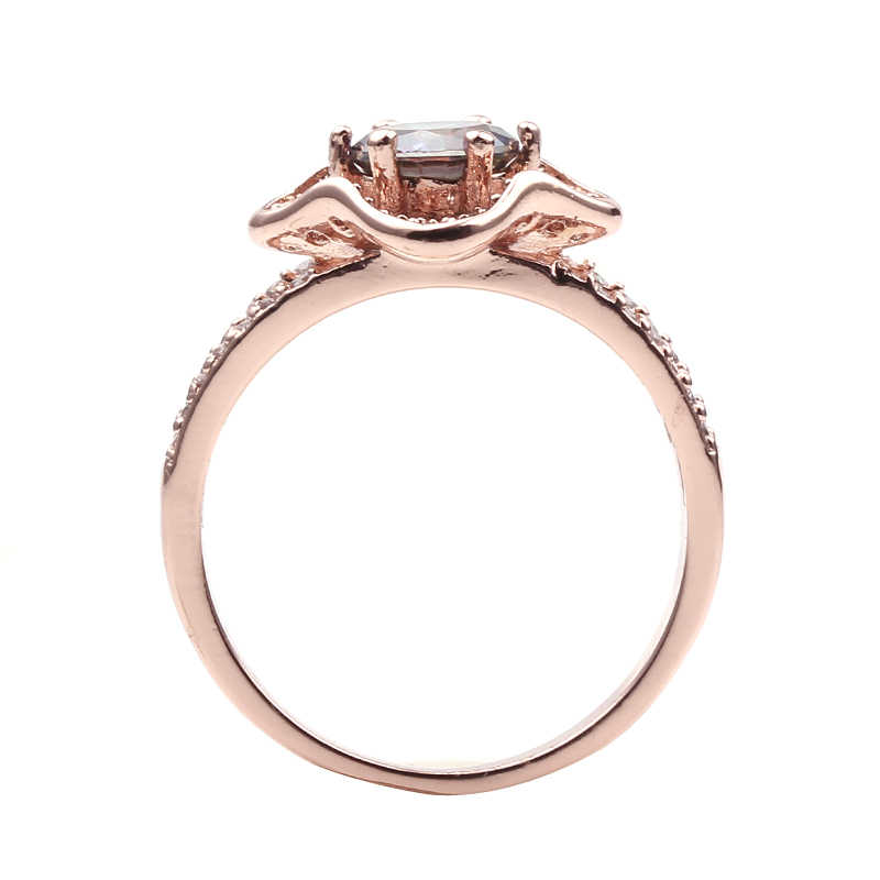 2019 Male Female Big Round Colorful Flower Ring Fashion Rose Gold Ring Vintage Wedding Rings For Men And Women Jewelry