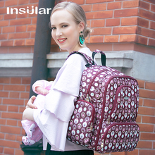 Insular Brand Multifuntion Baby Diaper Backpack Mummy Bag Baby Waterproof Changing Backpack