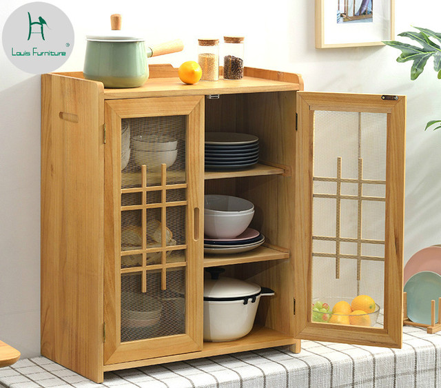 Kitchen Small Cabinet: Louis Fashion Small Wooden Cabinets Kitchen Bowls Simple