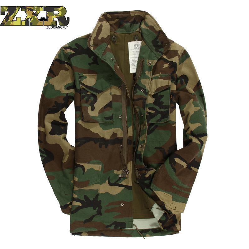 Erkek Kıyafeti'ten Ceketler'de Erkek Ceket Ordu Klasik Havadan Bölümü Rüzgarlık erkek Orman Kamuflaj Ceket Ordu Askeri Fanlar Taktik Ceket'da  Grup 1