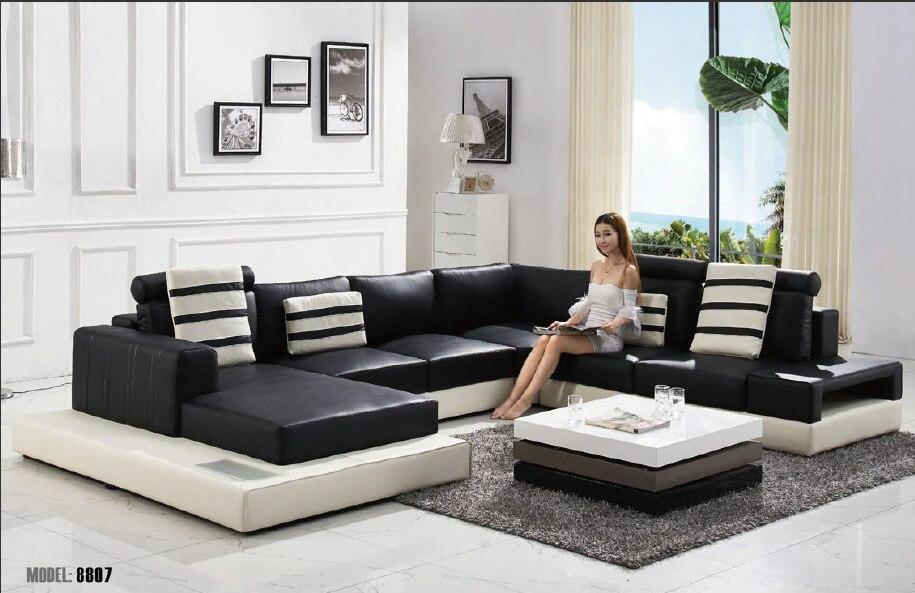 2015 Modern U shape leather sofa  living room sofa sofa furniture. High Quality Custom Sectional Furniture Buy Cheap Custom Sectional