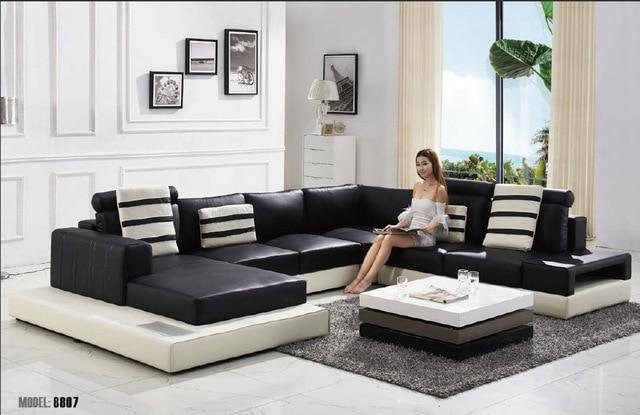 Buy 2015 Modern U Shape Leather Sofa