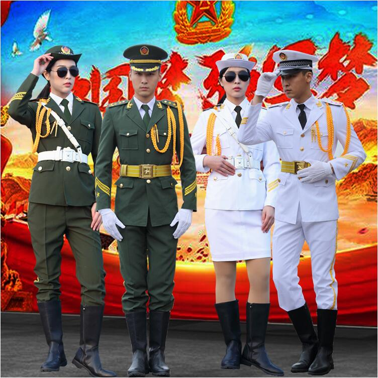 Army Band Guard Of Honor Costume Clothing Handsome Flag Raiser Costume Honor Guard China National Performance Military Outfit