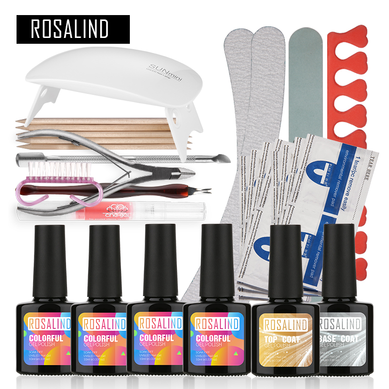Rosalind Uv Gel Kit Soak Off Gel Polish Gel Nail Kit Nail