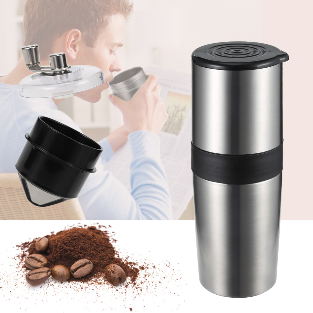 Fimei Multifunctional Portable Manual Coffee Grinder Stainless Steel Funnel Filter Vacuum Cup Ceramic Grinding Mechanism fimei multifunctional manual coffee grinder vacuum cup portable stainless steel funnel filter ceramic grinding mechanism