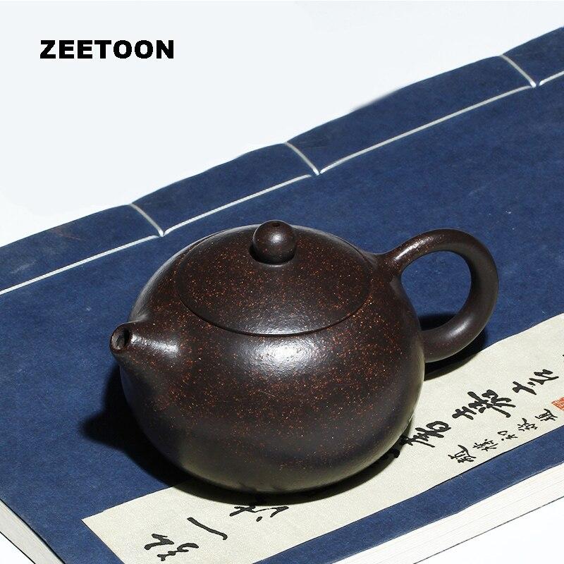 200cc authentique Yixing théière fait à la main Xishi Pot chinois soins de santé violet argile minerai noir or sable boue thé ensemble bouilloire Xi Shi