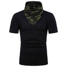 MarKyi 2019 summer new camouflage collar tee shirt men Eu size streetwear short sleeve t-shirt musculation