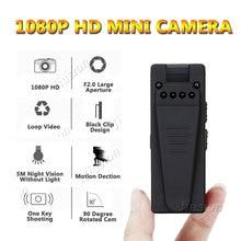 Minicámara de vídeo 1080P Full HD con Sensor de movimiento y visión nocturna, grabadora de Audio Digital, pequeña, DVR, 10 horas