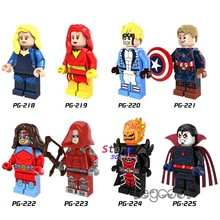 1PCS model building blocks superhero Cannonball Captain America Queen Atomia Red Arrow Dormammu toys for children gift(China)