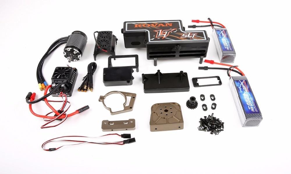 Nouveau kit de Conversion de puissance de changement d'huile électrique (batterie incluse) pour 1/5 pièces de voiture losi 5ive-t rovan lt slt rc
