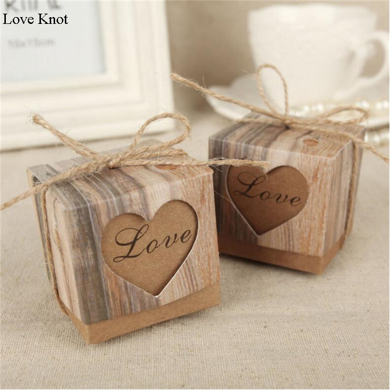 Aliexpress Buy 50pcs Love Knot Heart Candy Box Chocolate Box