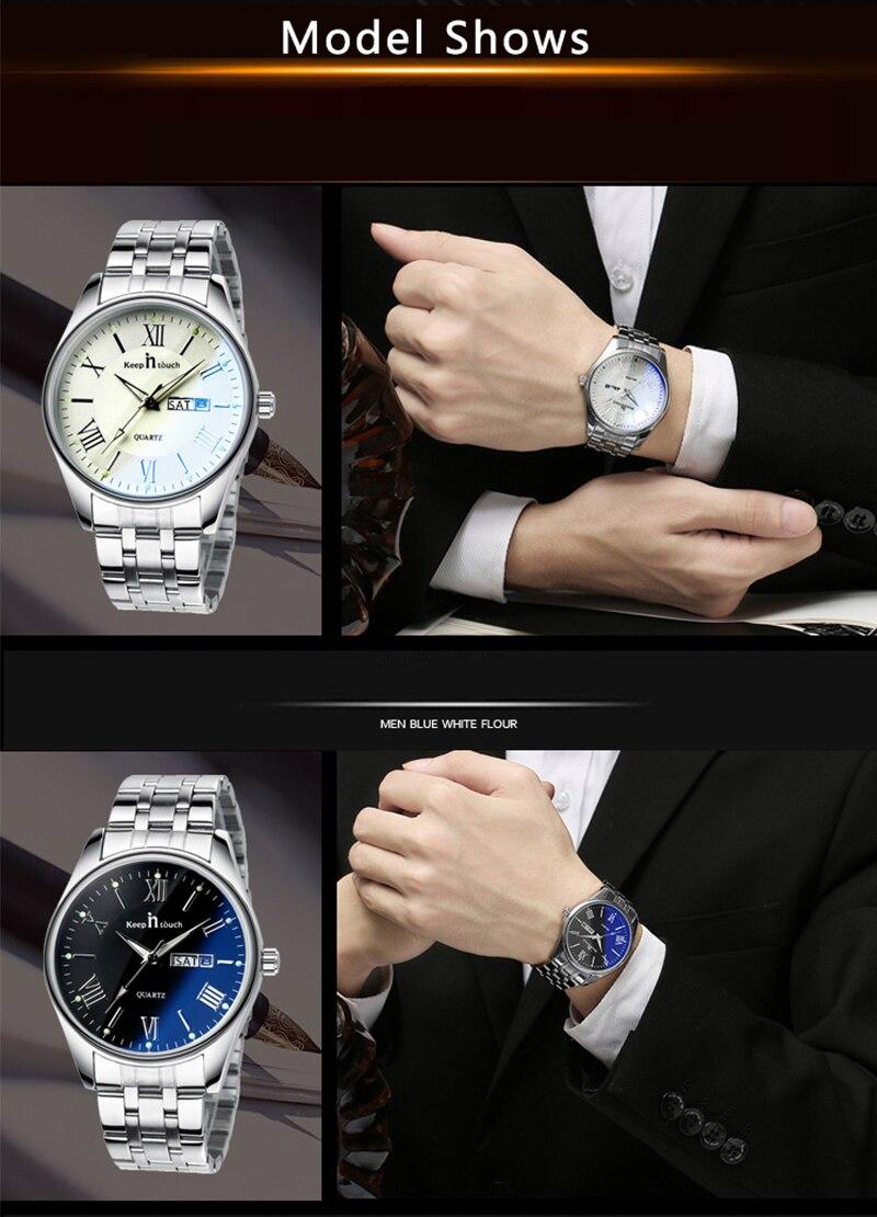 de negócios luxo masculino e feminino relógios