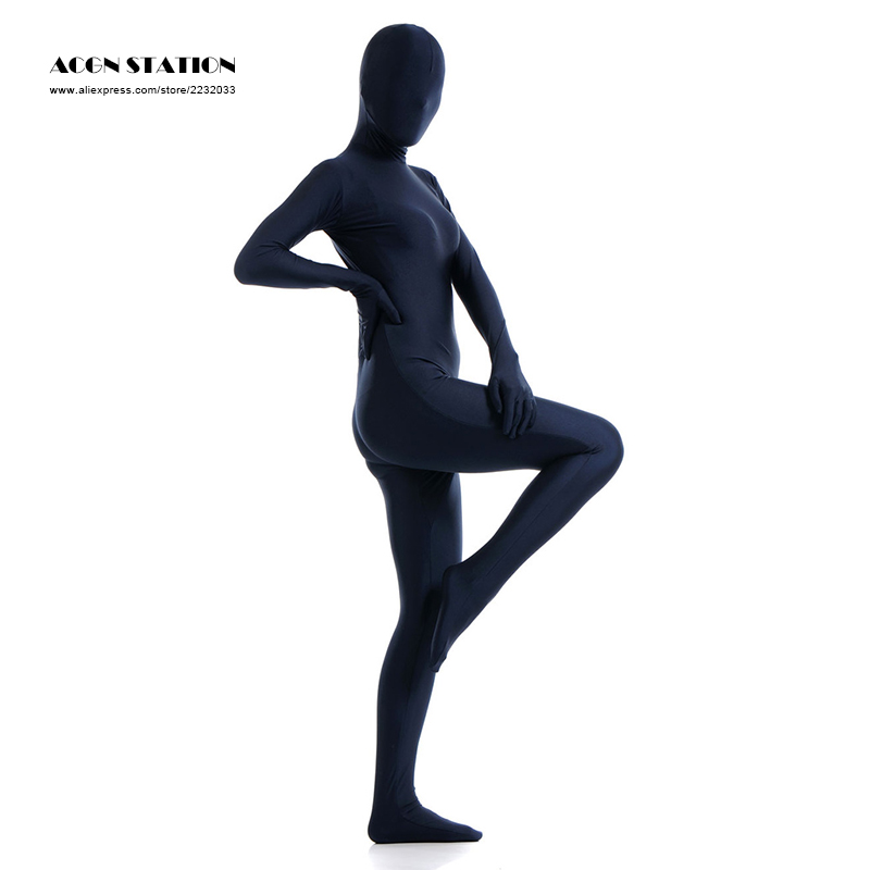 24h 2017 Fashion New Dark Navy Lycra Spandex Zentai Suit for Women Halloween and Party Rush order/Same day shipping/24-hour ship