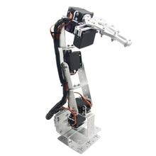 Robot Arm6 DOF Aluminium Clamp Claw Mount Kit Mechanical Robotic Arm & 6pcs Servos & Metal Servo Horn