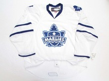 Toronto Marlies Premier White and Blue Custom Double Stitched Jerseys расческа marlies moller marlies moller ma084lwbuf61