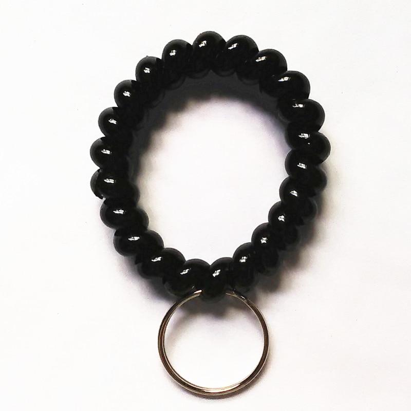 2017 New Arrival Fashion Phone Line Key Chain Black Key ring Bag Chain Car Key Rings Flash Keychain Hot Selling!