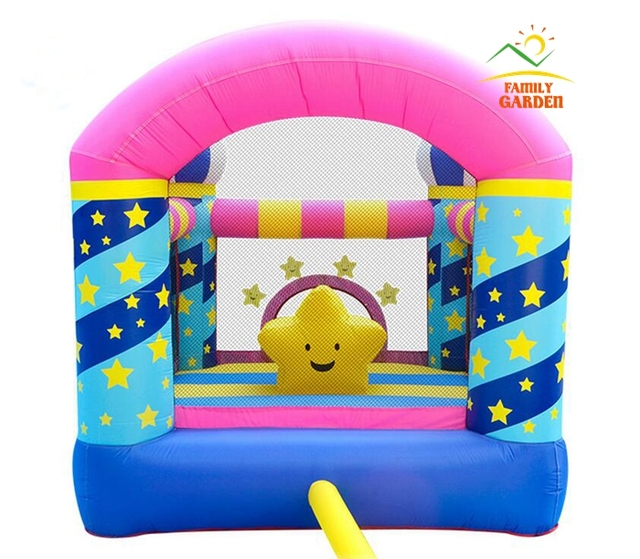 Bounceland Castle W/Hoop Inflatable Star Bounce House Bouncer Moonwalk With Air Blower