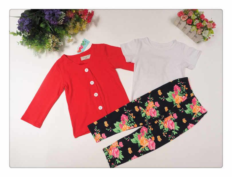 0aef5a91a ... 2015 Autumn girls fashion clothes set girl jacket + shirt + flower  pants girls 3 piece ...