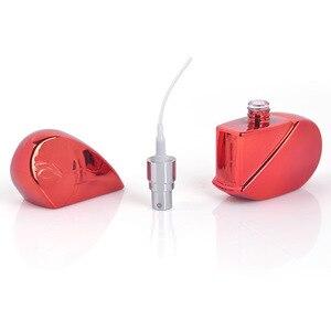 Image 5 - MUB   20ml kalp şekilli sprey parfüm şişesi cam havasız pompa kadın parfüm Atomizer seyahat şişe boş kozmetik kapları